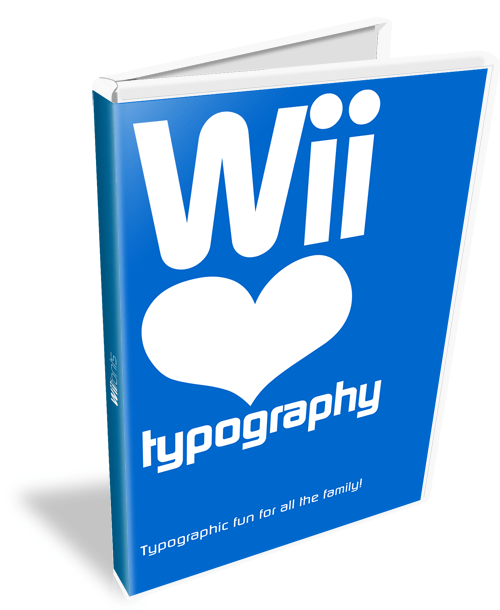 Wii Love Typography