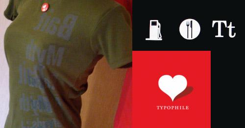 Typophile t-shirts
