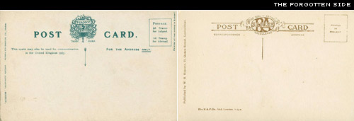 postcards' rears