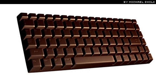 chocolate keyboard by Michael Sholk