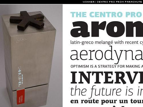 centro pro from parachute wins European design award for best original typeface
