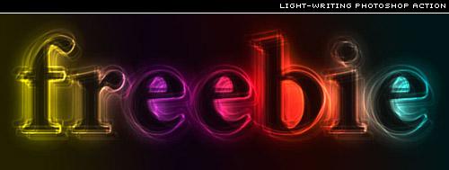 light writer photoshop action