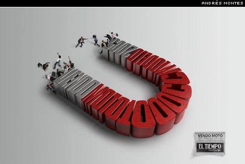 magnet ad by Andrés Montes