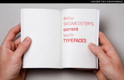 FIFTY DESIGNERS' CURRENT FAVOURITE TYPEFACES (UNICEF)