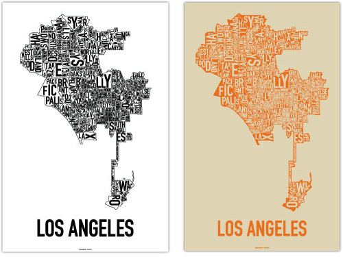 Los Angeles typographic poster