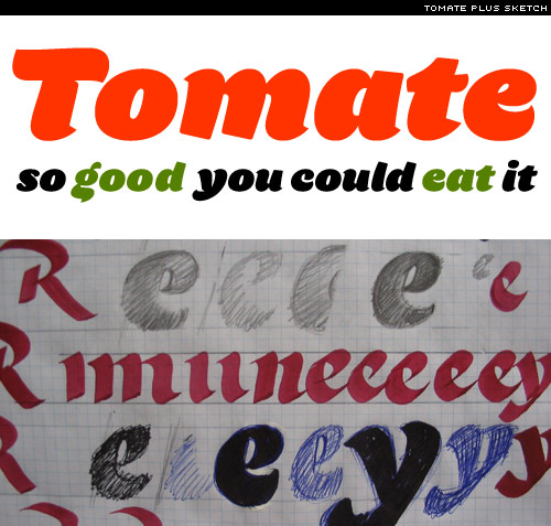 new font:tomate