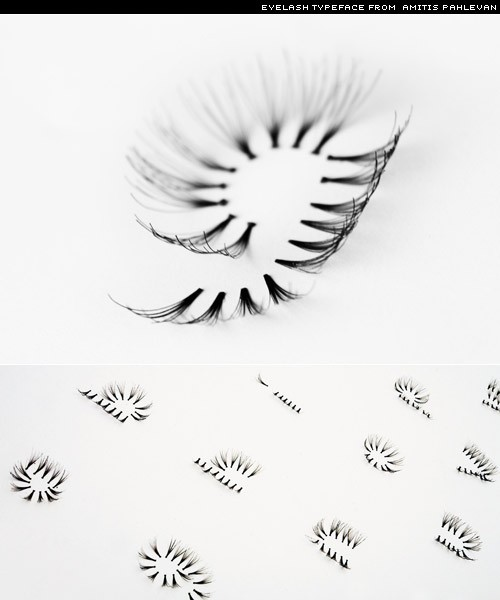 eyelash typeface