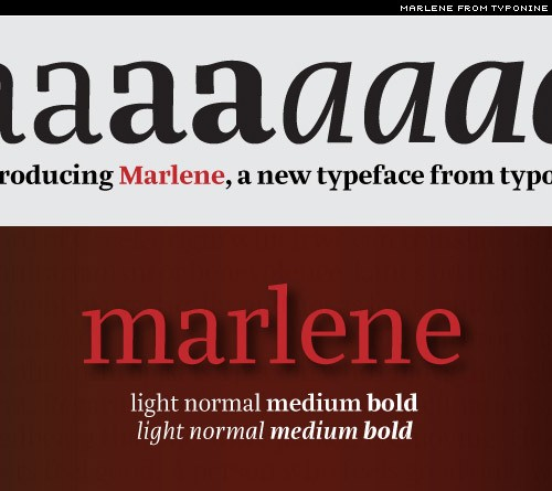 marlene a new text face from typonine