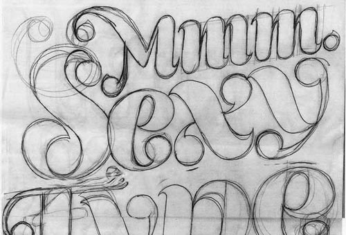 mmm sexy type sketch