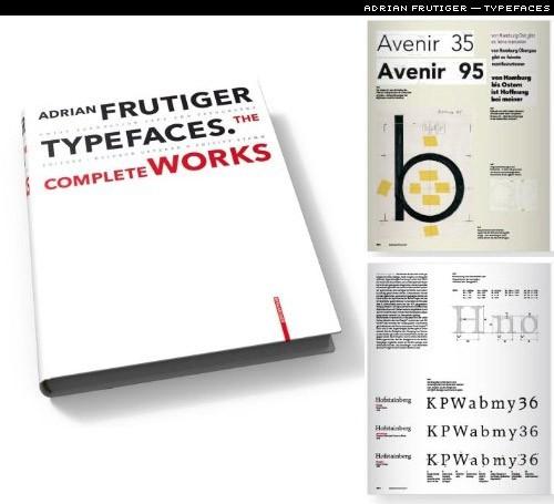 book: adrian frutiger typefaces