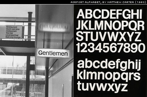 airport alphabet by Matthew Carter
