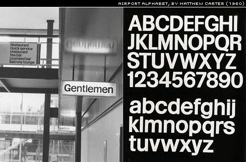airport alphabet by Matthew Carter