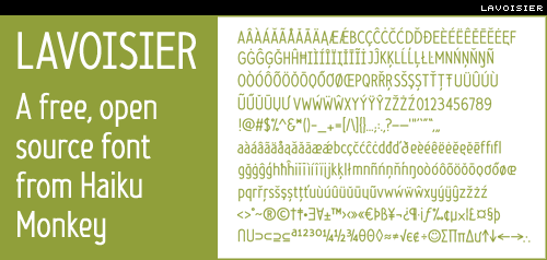lavoisier free, open source font