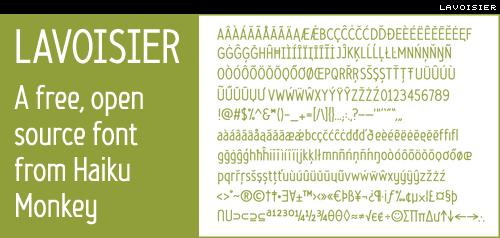 lavoisier free, open source font