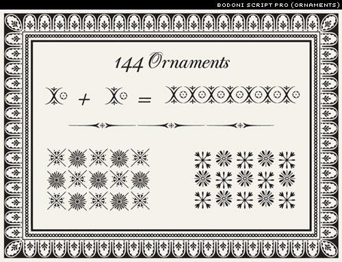 bodoni script pro ornaments