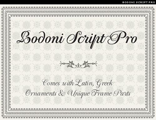 bodoni script pro from Parachute