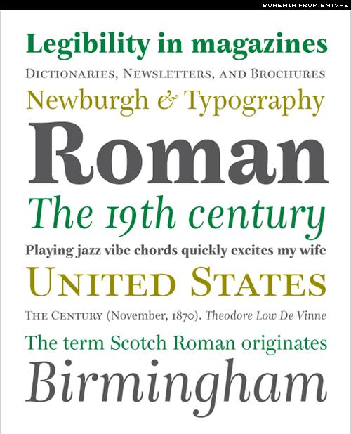 bohemia typeface
