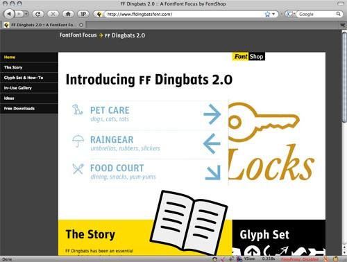 ff dingbats microsite