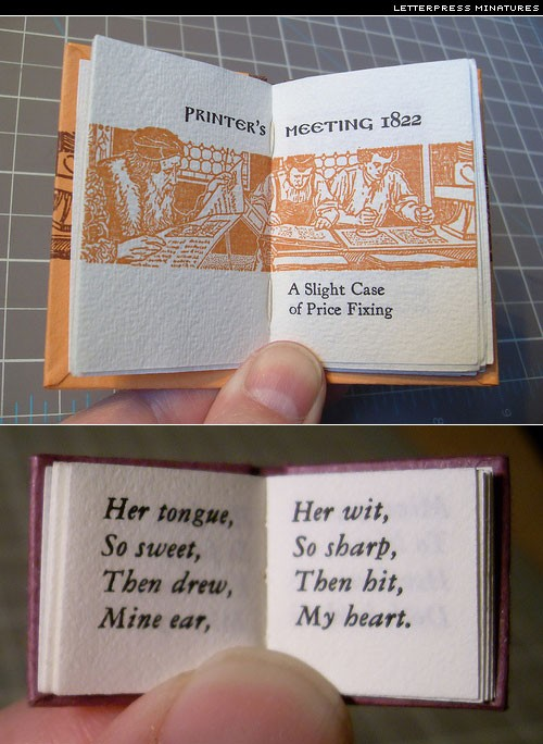 letterpress minature books