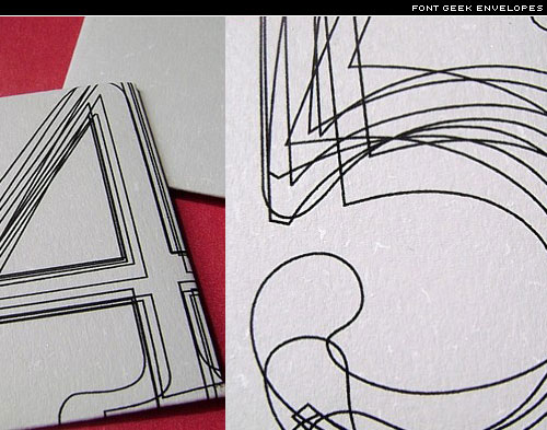 font-geek envelopes