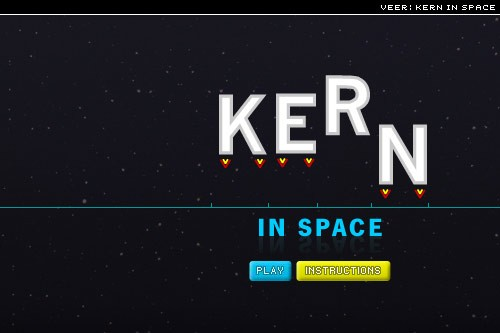 kern in space, from Veer Ideas