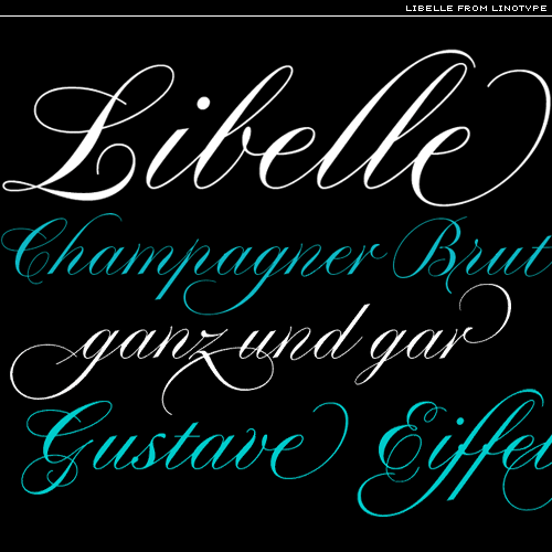 libelle fonts from linotype