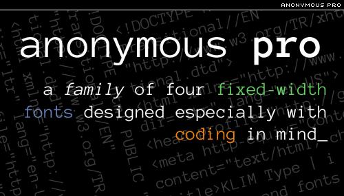 anonymous pro by mark simonson