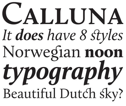 Calluna by Jos Buivenga. Regular is free!