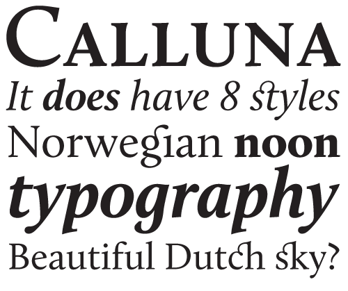Calluna by Jos Buivenga. Regular is free!