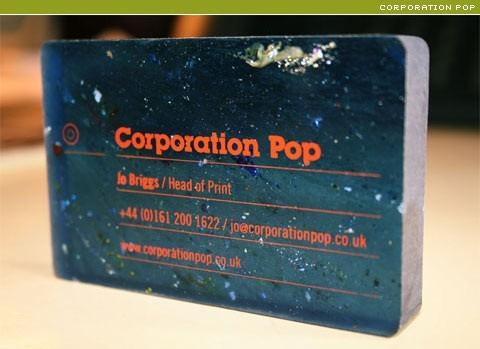corporation pop business card