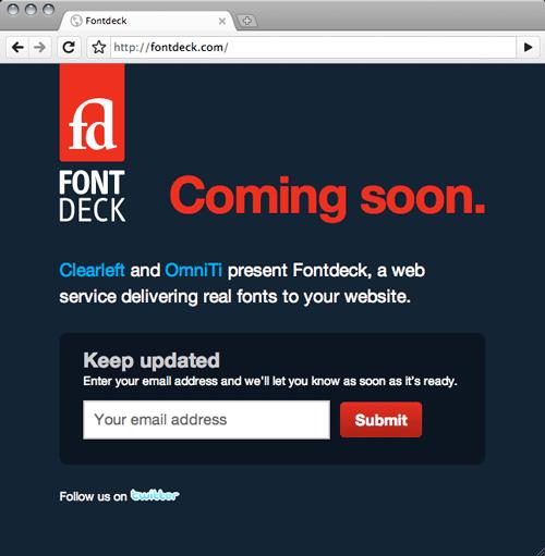 fontdeck web fonts service