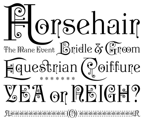 Type: Horsehair by Paul D Hunt. Typography: Joseph Newton