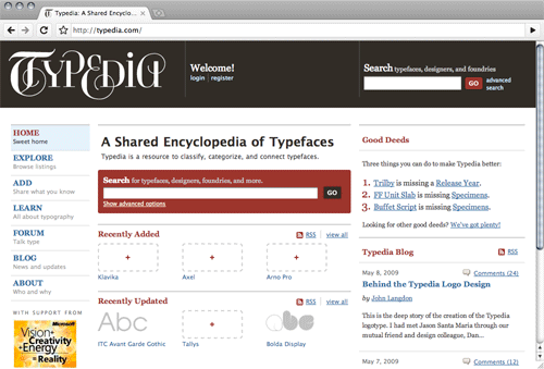 typedia, the typeface encyclopedia