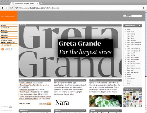 typotheque web fonts service