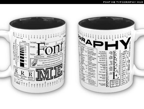 typography mug