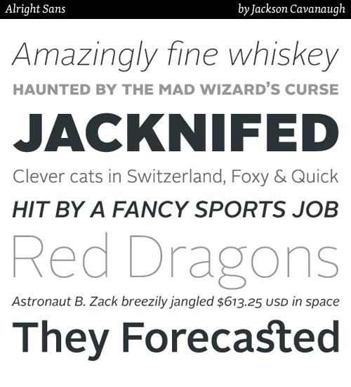 alright sans typeface