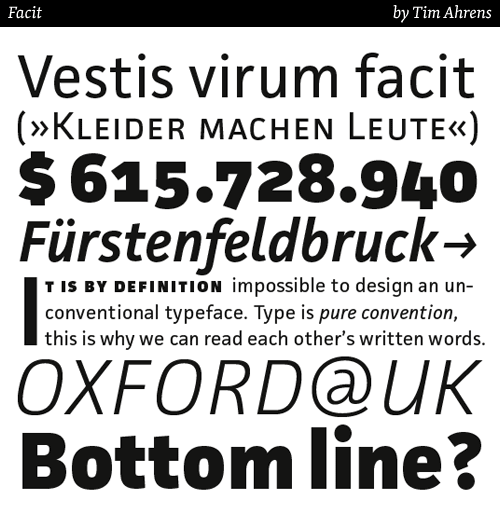 facit typeface by Tim Ahrens