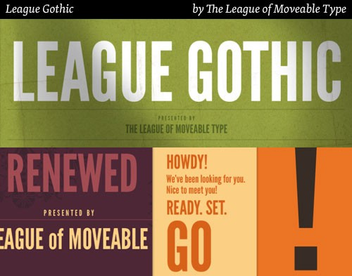 league gothic free fonts