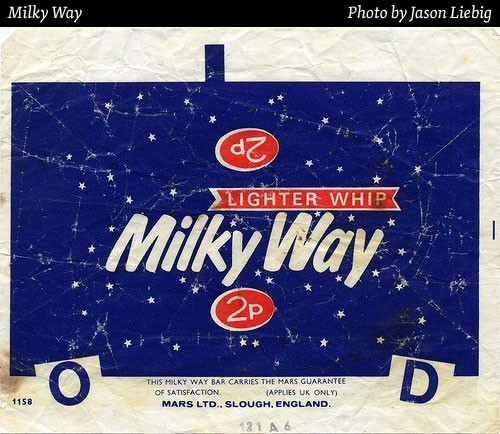 milky way chocolate wrapper