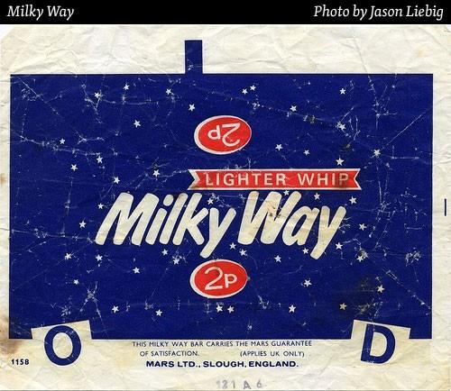 milky way chocolate wrapper