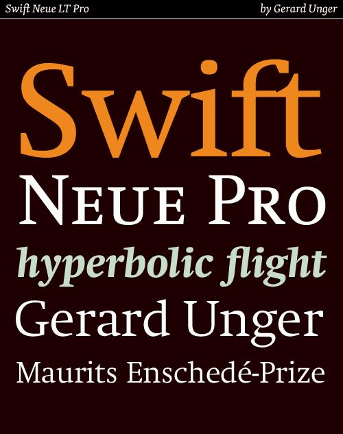 swift neue lt pro typeface