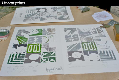 linocut-prints-type-camp