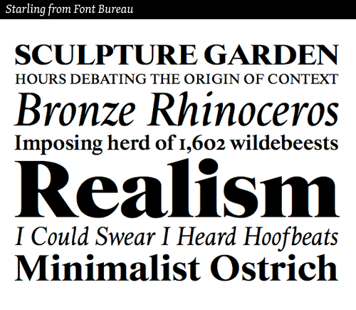 starling typeface