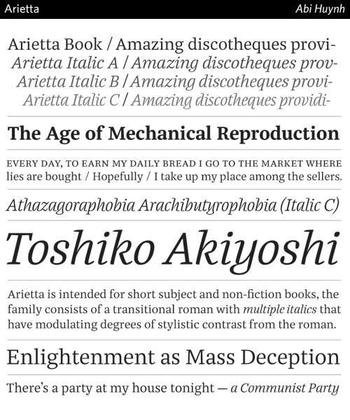 Arietta-typeface