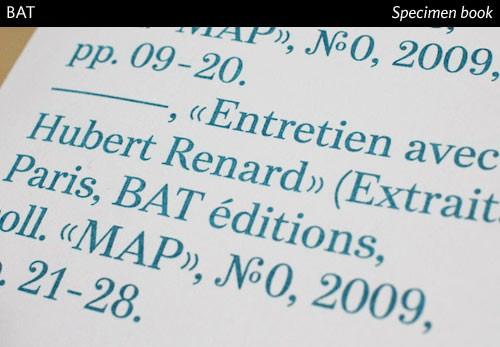 BAT fonts