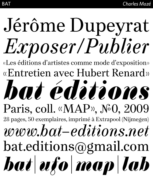 BAT-typeface