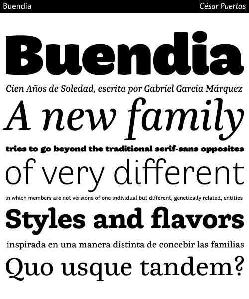 Buendia-typeface