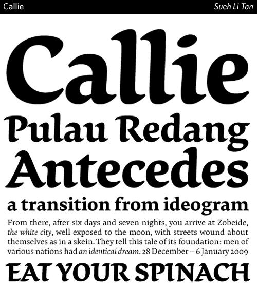 Callie-typeface