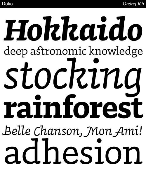 Doko-typeface
