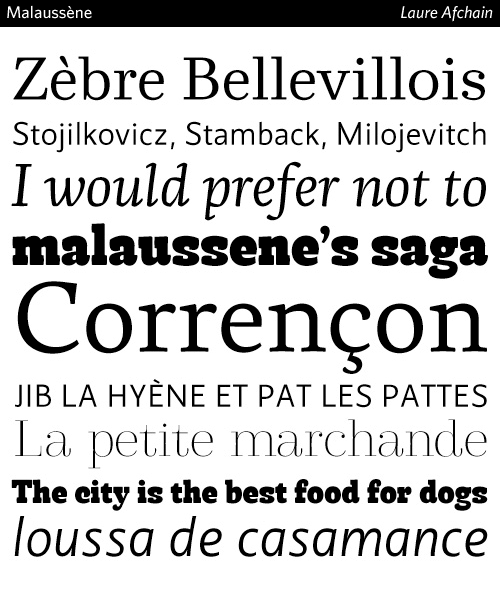 Malaussene-typeface